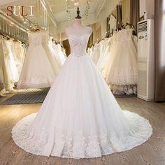 SL-41 New Arrival Beading Lace Bridal Plus Size Wedding Dress 2017