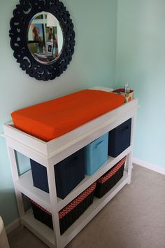 DIY changing table.  We are not getting a changing table for AEB, but if we were, we would try to build this one.