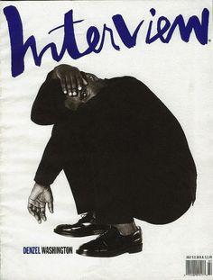 Interview Magazine 1990 cover with Denzel Washington Print Layout, Layout Design, Magazine Cover Design, Magazine Covers, Graffiti, Denzel Washington, Typography Prints, Grafik Design, Editorial Design