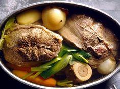 poivre, Viandes, poireau, clou de girofle, bouquet garni, oignon, ail, rave, sel, os à moelle, carotte, céleri