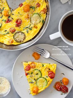 Roasted Tomato Zuchinni Frittata....looks like a little bit of summer!