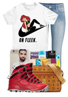 """""""."""" by ray-royals ❤ liked on Polyvore featuring H&M, NIKE and Retrò"""
