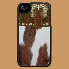 """Cowhide & Leather"" Western IPhone 4 Case  Don't really care for iPhones, but..  if I had an iPhone, this would definitely be my case!"