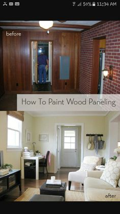How To Paint Over Fake Wood Grain Paneling Diy Home