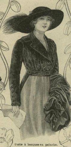 MODE ILLUSTREE - Dec 15,1912 - Tight Fitting Jacket Extending Below Waist