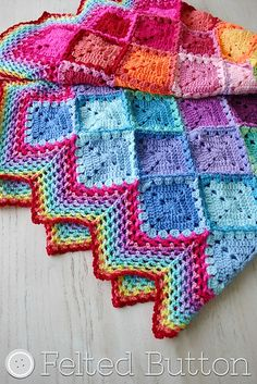 Ravelry: Happy Harlequin Blanket pattern by Susan Carlson