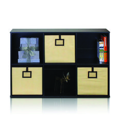 Add style and storage to almost any setting with the help of this Furinno Econ Espresso Cube Open Shelves. Cube Bookcase, Cube Shelves, Bookcase Storage, Shelf, Cube Storage Unit, Storage Bins, Storage Spaces, 6 Cube Organizer, Vertical Storage
