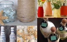 More crafts you can do with string, yarn and twine to embellish your bath containers.