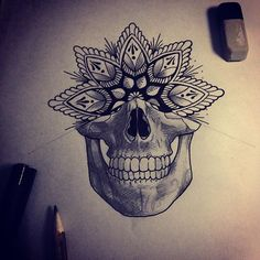Mandala death wish tattoo design ready to add to a sleeve #sketch # ...