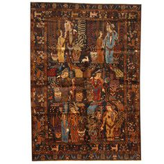 Shop for Herat Oriental Afghan Hand-knotted 1960s Semi-antique Tribal Balouchi Wool Rug (6'3 x 9'1). Get free delivery at Overstock.com - Your Online Area Rugs Shop! Get 5% in rewards with Club O!