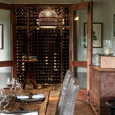 This expansive new wine cellar is located alongside the main dining room and lounge. Private Safari, Sustainable Tourism, Maine House, Rustic Chic, Wine Cellar, Lodges, Living Area, Homesteading, South Africa