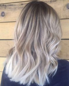 blonde balayage, hair idea, ash blonde, hair color