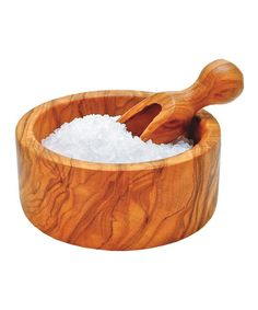Take a look at this Berard Olive Wood Salt Bowl & Spoon by Jean Dubost on #zulily today!