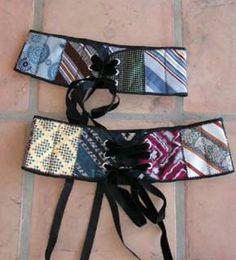 Belt from neckties