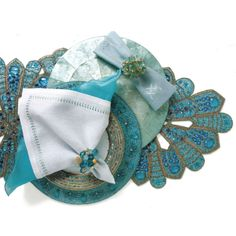 Kim Seybert Beaded Table Runner   ... Ways to Dress Up Your Tables: The Table Runner   Gracious Style Blog