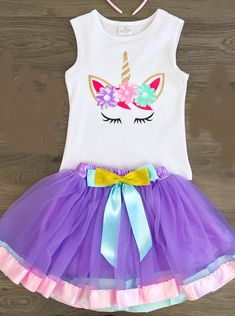 Objective Newborn Baby Girls Unicorn Tutu Princess Party Dress Tops 3-18m Hot New Baby Clothes Fly Sleeve Unicorn Printed Bodysuit Dress Girls' Baby Clothing