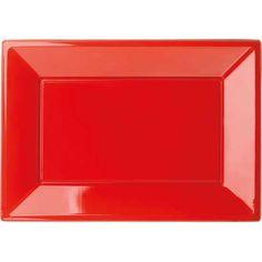 Rød serveringsfad i plast til din fest, børnefødselsdag og temafest.