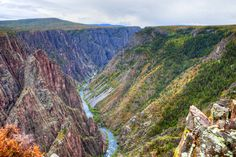 Black Canyon of the Gunnison National Park in Colorado, about 32,950 acres  This park contains some of the steepest cliffs in North America. Best time to visit is in the warmer months, trails can close during harsh winter conditions. For more hiking trails, head to the base of Mt. Crested Butte where we have a deal at the Elevation Hotel & Spa with buffet breakfast and room upgrade, upon availability.