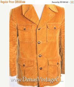Sale 50% OFF Vintage Camel Tan Sears Sportswear Corduroy Sherpa Rancher Coat Jacket Size 38
