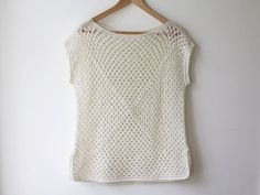 Amma - granny square top — maria valles *make longer OR use 2 rectangles instead of 2 squares*