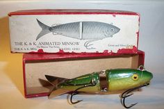 A classic K and K Animated Minnow ca. 1910.