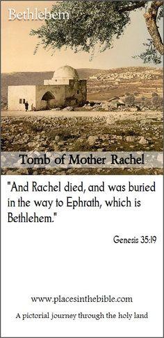 Rachel tomb in Bethlehem, Judea, the holy land