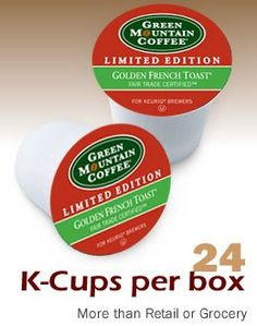 Green Mountain Fair Trade Golden French Toast 4 Boxes of 24 Keurig K-Cups ** Additional details at the pin image, click it  : K Cups