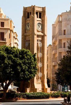Nejme Square Rolex Clock in Downtown Beirut, Lebanon
