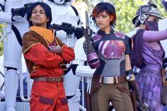 Sabine Wren and Ezra Bridger from Star Wars Rebels at Star Wars Weekends 2014