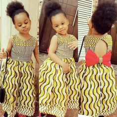 Ankara Styles For Kids; Little Girls And Baby Girls Ankara Styles Ankara Styles For Kids, African Dresses For Kids, African Babies, African Children, African Print Fashion, African Fashion Dresses, African Attire, African Wear, Ankara Mode