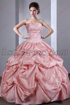 ed65935c2d 1st-dress.com Offers High Quality Beautiful 2016 Strapless Dusty Rose Quinceanera  Gown