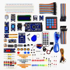 This is a RFID Starter Leaning Kit for Arduino MEGA 2560 and it is a more comprehensive kit than our other Kits for Arduino . This kit features: Based on our experiments in the Arduino, added the i… Arduino Projects, Electronics Projects, Consumer Electronics, Robot Kits, Pcb Board, Computer Technology, Diy Kits, Starter Kit