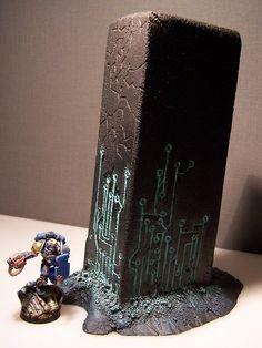 Terrain Scenery Warhammer 40K for Table Wargames Necron Monolith | eBay