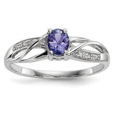 14K White Gold Diamond & Oval Tanzanite Infinity-Style Ring – Sparkle & Jade