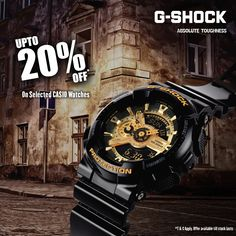 Upto 20% off on #Casio G-SHOCK Collection!!