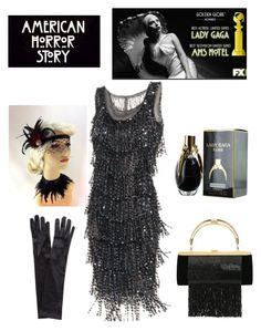 """Lady gaga:AHS  golden globe Nominee"" by im-karla-with-a-k ❤ liked on Polyvore featuring Christian Dior, John Lewis and Balmain"