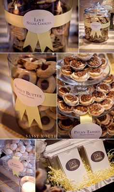 Cookie bar - wedding Kate and Trey Wedding - Elizabeth Park - Hartford, CT - Sassy Mouth Photography Cookie Bar Wedding, Wedding Cookies, Wedding Desserts, Wedding Favours, Wedding Reception, Our Wedding, Wedding Ideas, Cookie Buffet, Cookie Table
