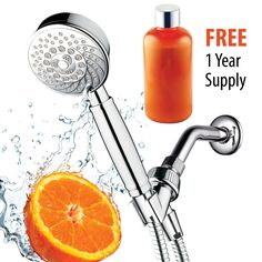 HotelSpa® Fusion Vitamin C Chlorine-Removing Shower. 7 Setting Water-Conditioning Handheld-Shower-Head w/ Overhead-Bracket, Refillable Cartridge & Shower-Hose. FREE 1 Year Vitamin C Supply included HotelSpa Best Handheld Shower Head, Shower Head Reviews, Safety Shop, Vitamin C Powder, Natural Vitamin C, Power Shower, Shower Filter, Shower Hose, Hair Vitamins