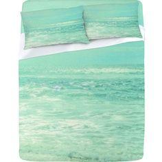 Where Ocean Meets Sky Sheet Set Lightweight Lisa Argyropoulos Ocean Bedroom, Mermaid Bedroom, Beach Bedrooms, Girls Bedroom, Master Bedroom, My New Room, My Room, Sky Design, House Design