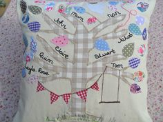 family tree cushion by Auntie's Crafty Creations