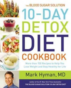 """""""Dr. Hyman shares more than 150 delicious recipes that support the 10-Day Detox Diet, so you can continue on your path to good health. With easy-to-prepare, delicious recipes for every meal...you can achieve fast and sustained weight loss by activating your natural ability to burn fat, reducing insulin levels and inflammation, reprogramming your metabolism, shutting off your fat-storing genes, creating effortless appetite control, and soothing stress.""""--Amazon.com."""