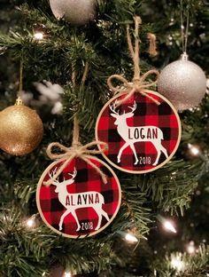 Buffalo Plaid Personalized Ornament