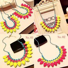 Fashion Women Jewelry Crystal Chunky Bib Pendant Choker Chain Statement Necklace #Unbranded #Statement