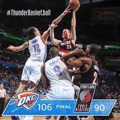 Thunder earns balanced, defensive win at home over Portland. Check the stats on Thunder Mobile App.  12/16/2015