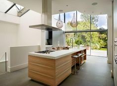 Glazed extension on Victorian double-fronted detached house bulthaup by Kitchen architecture #kitchens