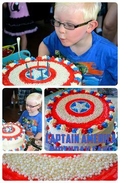 captain america cupcakes pinterest Captain America Shield cake