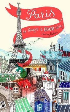 Paris - Illustration by Hennie Haworth