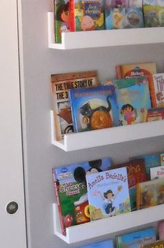 Need to do this in the girls room...they have too many books =)