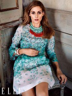 Olivia Palermo Blumarine-ban a német Elle márciusi kiadásában