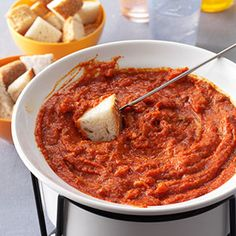 Pizza Fondue Recipe from Taste of Home -- shared by Susan Carlson of Perry, New York